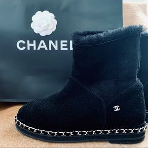 Authentic Chanel Ankle Boots